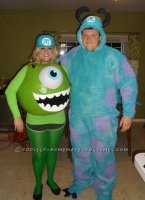 Awesome Mike and Sully Monsters Inc. Couples Costume