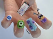 Kayleigh OConnor Nail Art Monsters Inc 3D