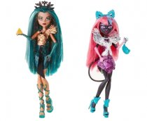 new monster high dolls 2015 - Boo York Nefera De Nile and Catty Noir, png