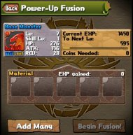 Puzzle and Dragons power-up-fusion