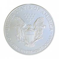 The 1 oz American Silver Eagle issued by the US Mint is one of the most popular silver bullion products sold today.