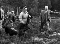 The Queen at Balmoral, 70 miles from Loch Ness, in 1967 (getty)