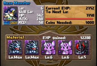 All monsters in Puzzles and Dragons