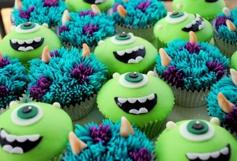 Easy Monsters Inc. cupcakes
