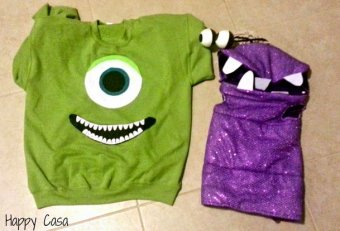 Family Monsters Inc Costumes
