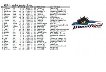 Lake Erie Monsters roster 2010