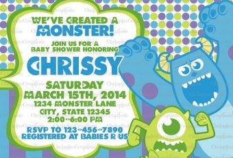 Monsters Inc. Baby Shower