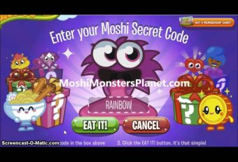 Moshi monsters all codes