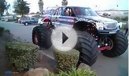 Lucas Oil Monster Truck on a parking lot