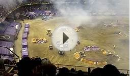 Monster Jam 2015 New Orleans Superdome Max D Brings Down